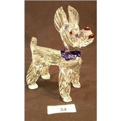 Glass Blown Dog Statue
