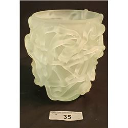 Frosted Spaghetti Glass Vase