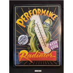 Performance Thermometer Tin Sign