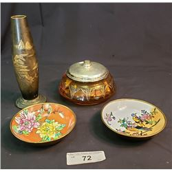 Four Pieces Of Collectable Dishes And Vase
