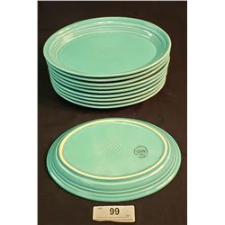 Fiesta Ware Lot Of 10 Oval Plates