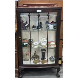 Mahogany Claw Foot China Cabinet