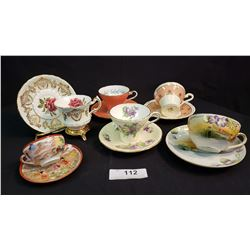 Lot Of 6 Tea Cups And Saucers