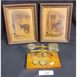 Lot Of 2 Pictures And Scale