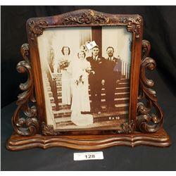 Old Wedding Photo In Ornate Frame