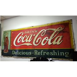 Vintage 1935 Coke Sign, Painted Tin