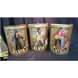 3 Elvis Dolls In Boxes