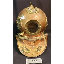 Mini Divers Helmet, Brass And Copper