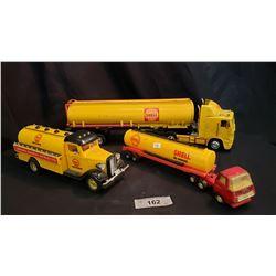 3 Toy Shell Trucks