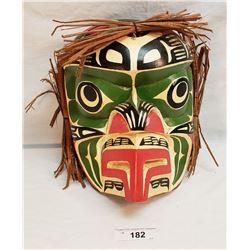 Westcoast Native Carved Wren Mask