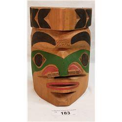 Westcoast Native Mask, Signed