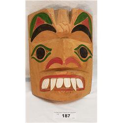 West Coast Native Carved Wolfman Mask