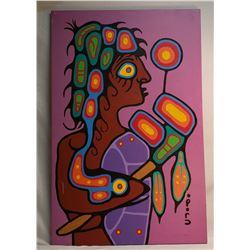 "Native Oil Painting ""Ojibway Man"" Christian Morriseau"
