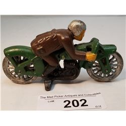 Cast Iron Speed Racer Motorcycle Toy