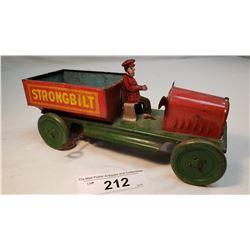Vintage Strongbilt Tin Windup Truck