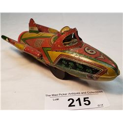 Vintage Kaka Super Rocket Tin Toy