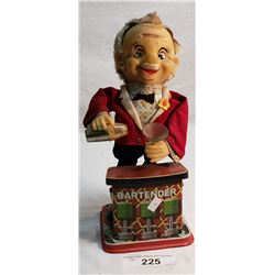 Vintage Charlie The Bartender Tin Toy