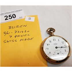 Vintage Buren Pocket Watch