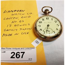Vintage Hampoen Pocket Watch
