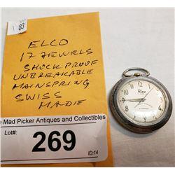 Vintage Elco Pocket Watch