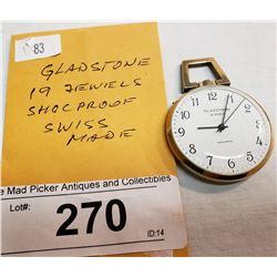 Vintage Gladstone Pocket Watch,