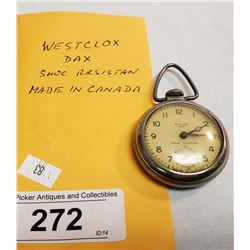 Vintage Westclox Dax Pocket Watch