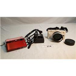 Panasonic Lumix Camera And Sony Cyber Shot Camera