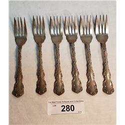 6 Pieces Birks Sterling Silver Desert Forks