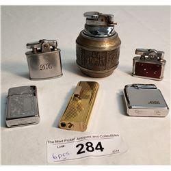 6 Vintage Lighters,