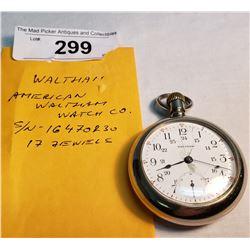 Vintage American Waltham Watch Co, Pocket Watch