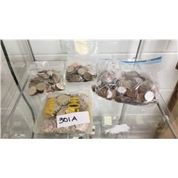 Large Amount Of Chinese Coins, 4 Bags