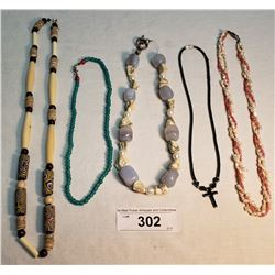 5 Assorted Necklaces