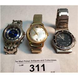 3 Wrist Watches
