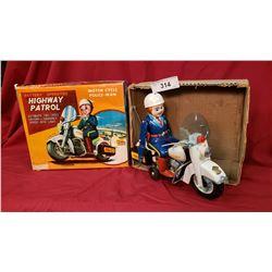 Vintage Highway Patrol Tin Toy