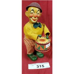 Vinage Clown With Drum Wind Up Toy