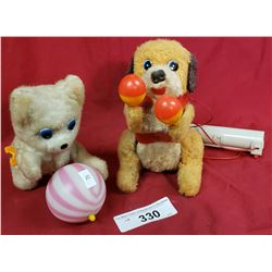 2 Battery Operated Toy Dog And Cat