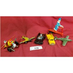 6 Pieces Vintage Toys, Die Cast Airplanes