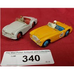 2 Vintage Dinky Roadsters