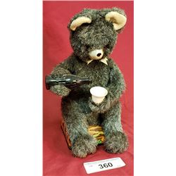 Vintage Cola Drinking Bear Toy