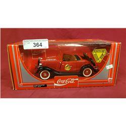 Coca- Cola Ford Roadster Die Cast Car, 1:18 Scale
