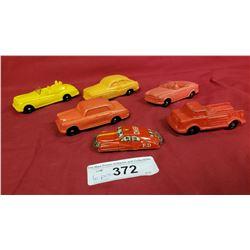5 Vintage Toys, Plastic