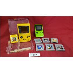 2 Nintendo Game Boys & 7 Games