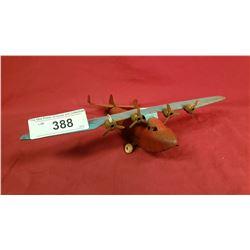 Vintage Pressed Steel 4 Prop Airplane