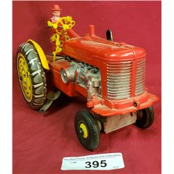 Vintage Mark Toy Tractor Plastic And Tin