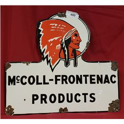 Red Indian Mccoll-Frontenac Sign
