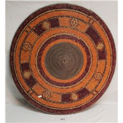 Large Hand Woven Colorful African Tray