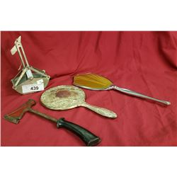 2 Mirrors, Toy Shovel, Vintage Box Opener