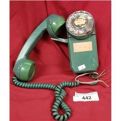 Rare Green Wall Mount Phone