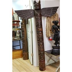 Well Carved Totem With Wings