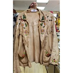 Nice Early Beaded Front And Back Native Jacket